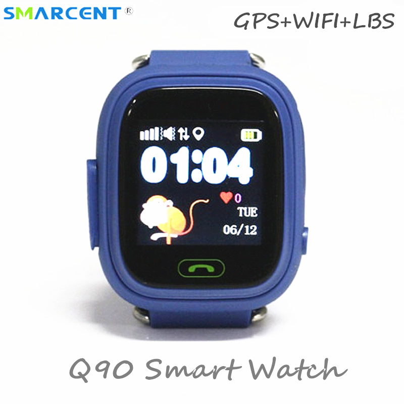 Q90 GPS Wifi Location Child Smart Watch SOS Touch Screen Tracker Smartwatch For Kid Baby Safe Anti-Lost Monitor