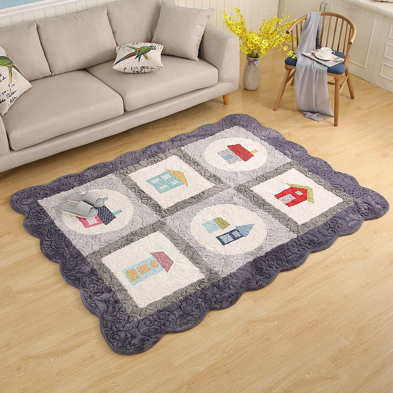 Coréen couture matelassé tapis bébé ramper Pad enfants chambre tapis coussin salon chambre couverture Yoga tapis