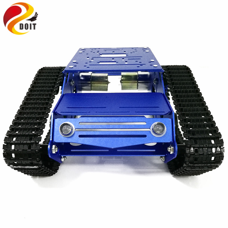 YP100 Tank Chassis Robot Tank Model with 12V 320RPM High Power Motor Aluminum Alloy Frame Plastic Tracks for DIY Robot Project metal aluminum alloy robot tank chassis 37 motor strong power sk9