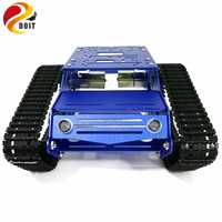 YP100 Tank Chassis Robot Tank Model with 12V 320RPM High Power Motor Aluminum Alloy Frame Plastic Tracks for DIY Robot Project