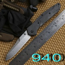 Ben BM 940 943 S90v blade Axis folding knife carbon fiber Copper washer hunting camping Pocket outdoor Survival EDC Tools knives