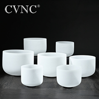 CVNC big promotion set of 7pcs 6 12 Note A# C# D# F# G# C# F# Frosted Quartz Crystal Singing Bowl Meditaion
