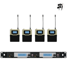 New! 4 Bodypack Receivers in ear monitor system Updated SR2050 IEM wireless in-ear monitoring for Professional Stage Performance