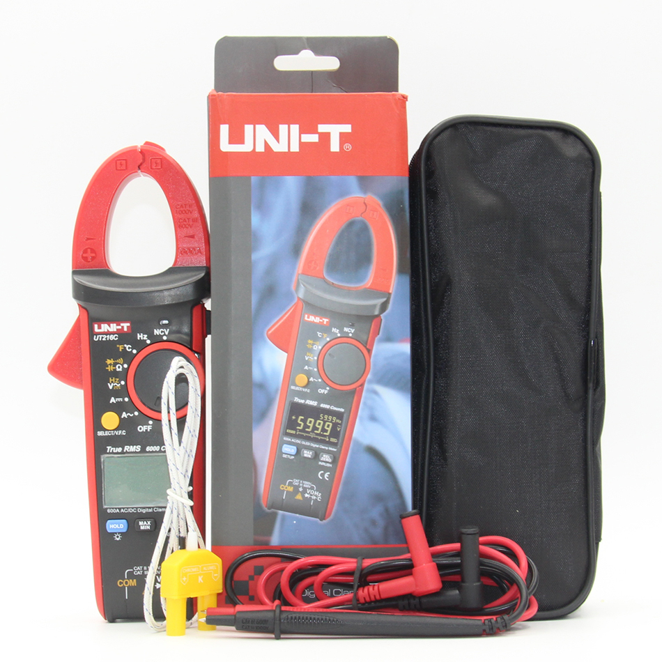 цены на UNI-T UT216A UT216B UT216C 600A Digital Clamp Meters DC Current NCV Tester V.F.C Diode Digital Multimeters в интернет-магазинах