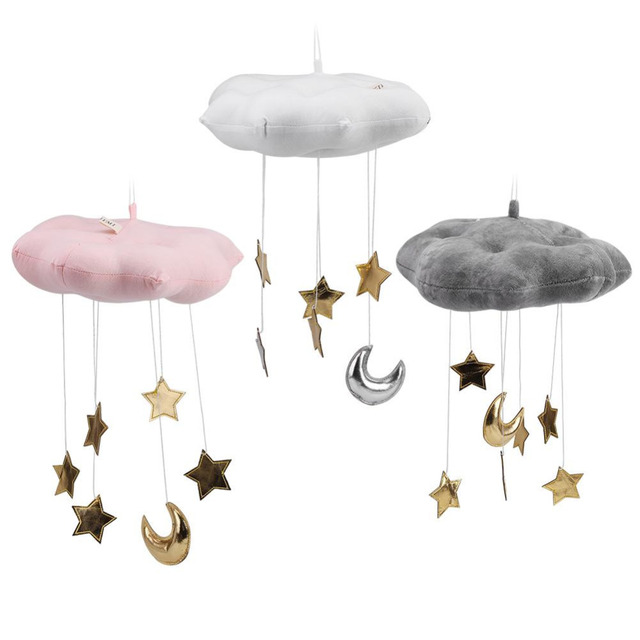 Lovely Cotton Cloud Star Moon Tent Hanging Decoration Room Hanging 3 Colors Baby Kids Photo Props Toys For Kids Room Decoration