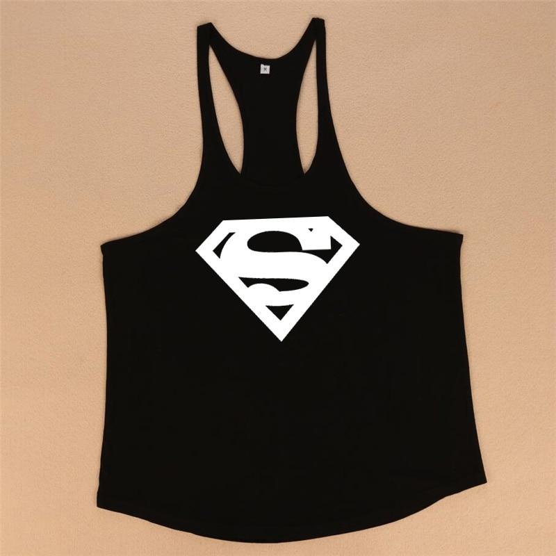 Bodybuilding stringer tank top Superman Gyms sleeveless shirt men Fitness Vest Singlet sportswear workout tank top 10