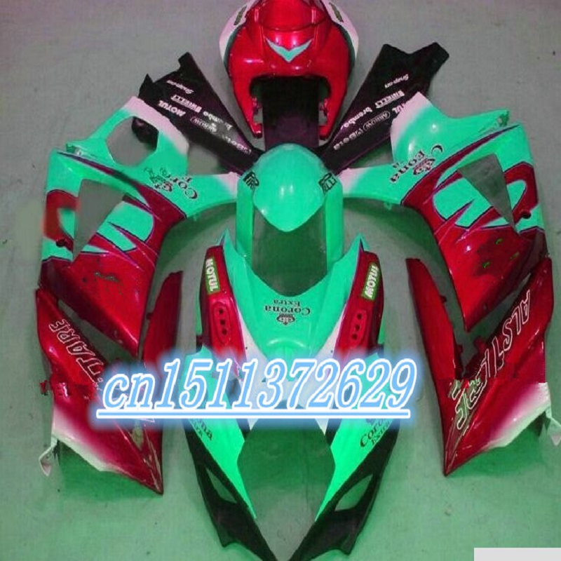 Dor for GSXR 1000 2007 GSXR 1000 fairings 2008 GSX R1000 fairing K7 07 08 glossy green red for SUZUKI D