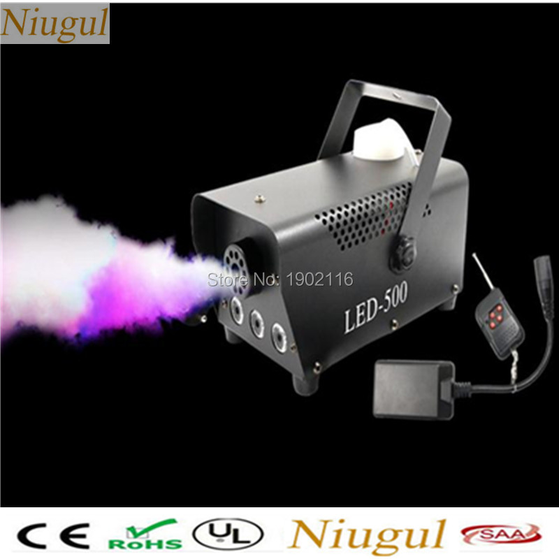 Wireless control 500W/400W LED smoke machine RGB fog machine professional stage DJ equipment RGB LED Haze machine special effect цена 2017