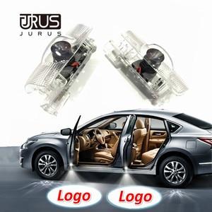 JURUS 2Pcs Led Car Door Logo Laser Projector For Toyota Camry Corolla Crown Prado Prius Mark X Welcome Light Backlight Led Auto(China)