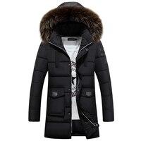 2016 New Fashion Long Winter Jacket Men S Parka Coat Thick Mens Winter With Natural Fur