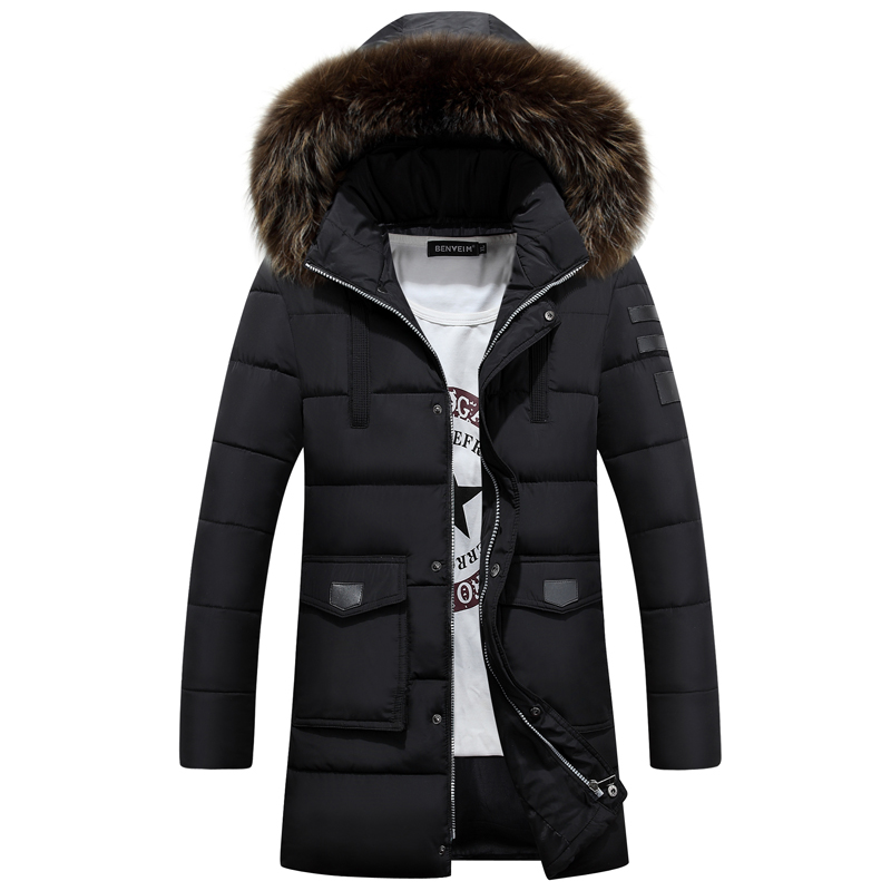 2016 New Fashion Long Winter Jacket Men's Parka Coat Thick Mens Winter With Natural Fur Hooded Good Quality Jacket Men Outwear high quality hooded long winter jacket men coat 2017 winter jackets mens parka with fur hood parka men hombre casaco masculino
