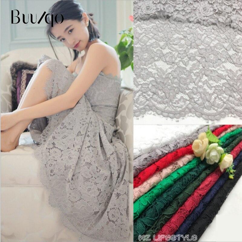 1 yards/lot haute qualité Africain cils ajouré dentelle tissu pour DIY vêtements accessoires artisanat