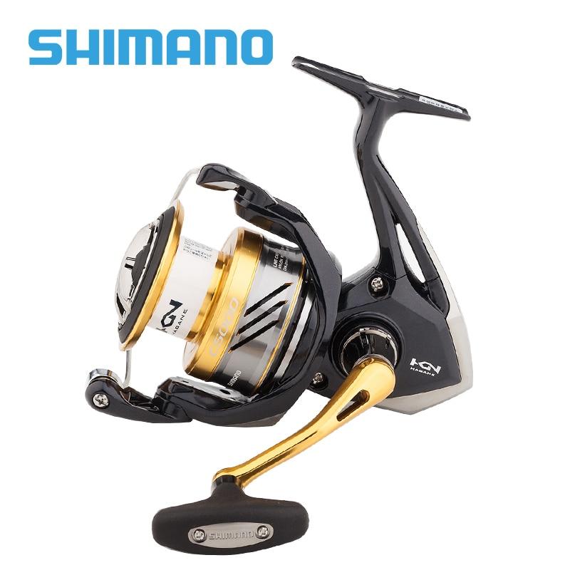SHIMANO NASCI Spinning Fishing Reel 1000 c2000s 2500 c3000 4000 5BB Gear Ratio 5.0:1/4.7:1 Drag power 3~11kg pesca carp fishing