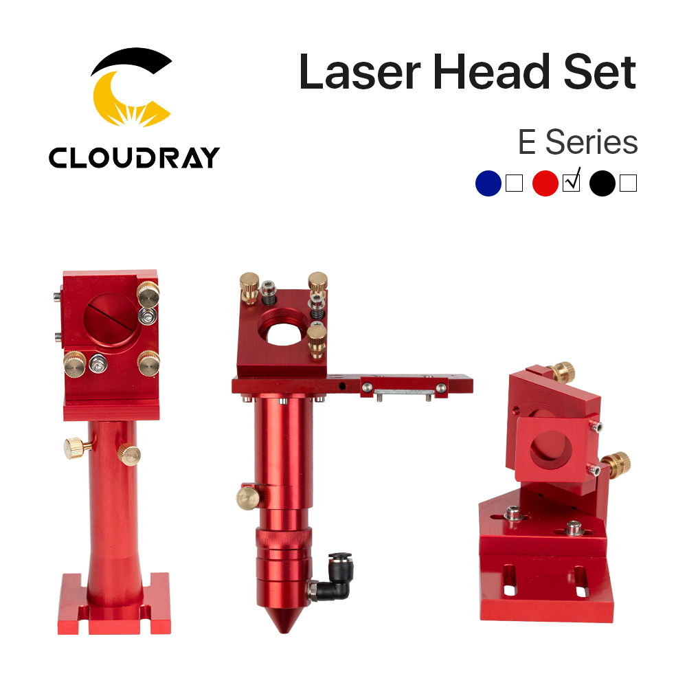 E Series: CO2 Laser Head Focusing Lens D20mm FL50.8 & 63.5 & 101.6 Mirror 25mm for Laser Engraving Cutting Machine|Woodworking Machinery Parts| |  - title=