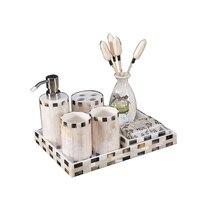European American model home decoration creative shell bathroom set tray gift decoration crafts LO723340