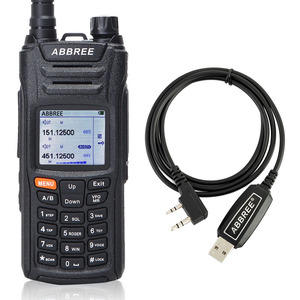 Image 1 - ABBREE AR F6 6 Bands Walkie Talkie Dual Display 999CH VOX DTMF SOS Scanning Stopwatch Functional LCD Color Display + USB Cable
