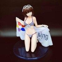 Anime Saenai Heroine No Sodatekata Katou Megumi Kneeling Position Swimsuit Ver. PVC Action Figure Collection Model Toy Gift