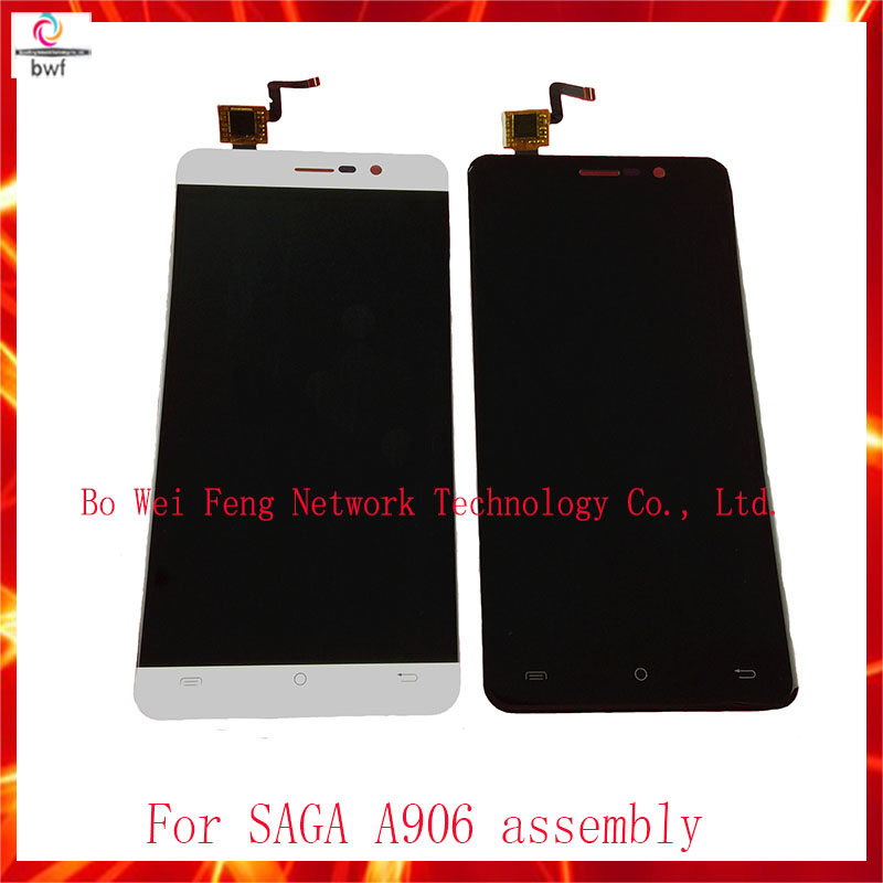 High Quality LCD screen display+ touch screen digitizer assembly For SAGA A906 Free Shipping high quality lcd display touch screen