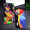 Luminous Embossed 3D Parrot Falcon Eagle Husky cover Case For 6 S 6s 7 Plus Full package protection Hard phone Cases coque funda