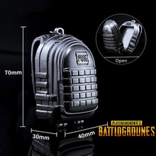 Game PUBG Playerunknown's Battlegrounds Cosplay Costumes Props Alloy Level 3 Backpack Model Key Chain game pubg playerunknown s battlegrounds cosplay costumes props first aid packet pen camouflage bag