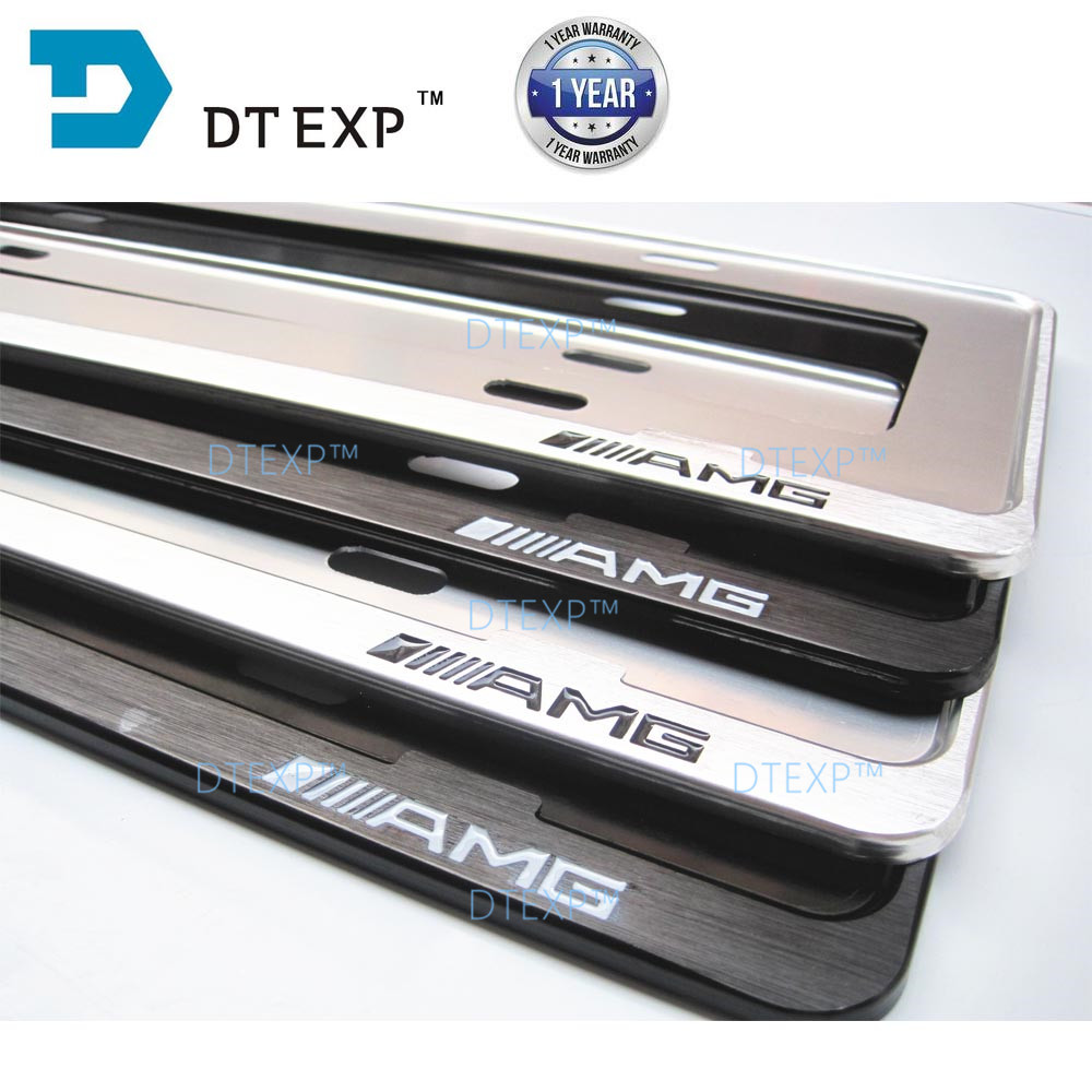 License Plate Frame FOR BENZ Tag Cover Holder FOR AUDI aluminum FRAME FOR ALL CARS LOGOS