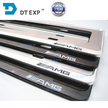 License Plate Frame  FOR BENZ Tag Cover Holder FOR AUDI aluminum FRAME FOR ALL CARS LOGOS FOR BMW 44cm 14cm
