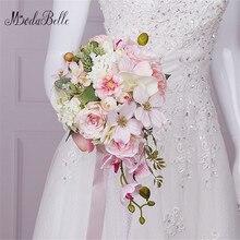Modabelle New Pink Wedding Flowers Bridal Bouquets Droplets Artificial Bride Wedding Bouquet Brooch Bouquet De Mariage 2017