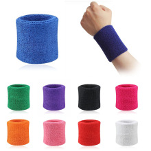 Men & Women Sports Sweatband Tennis Squash Badminton Terry Cloth Wrist Sweat Bands Basketball Gym Wristband Wrist Wraps