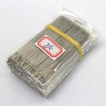Брендовые 50 шт./лот, иглы для шитья Больших Глаз из нержавеющей стали, набор штифтов для домашнего творчества, аксессуары для домашнего шитья 1,0*66 мм