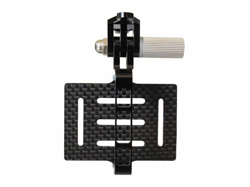 Fibra de carbono Anti-vibración PTZ placa de montaje para cámaras Gopro Hero de acción para DJI Phantom 1 2 FPV Drone Quadcopter cardán montaje