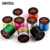 GHOTDA 500M Multicolour PE Braided Wire 8 Strands Multifilament Japanese Fishing Line