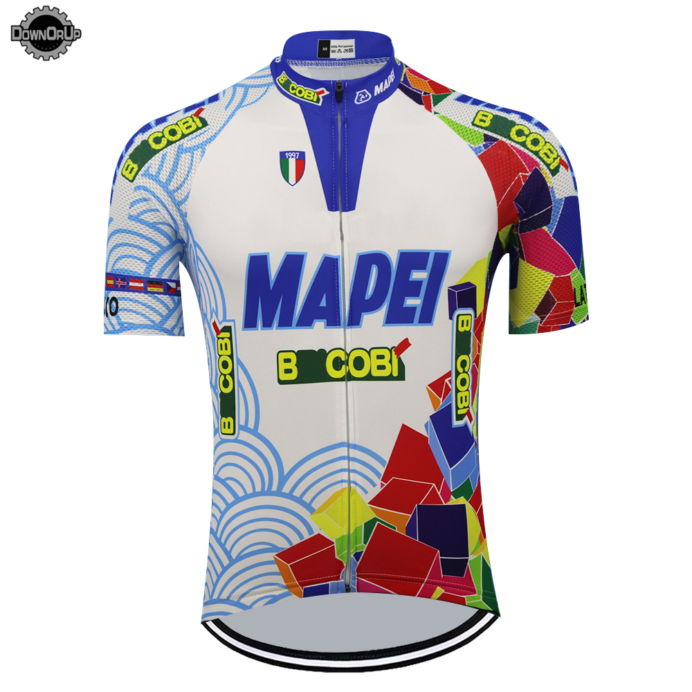 Italy mapei cycling jersey bike wear jersey men short sleeve ropa ciclismo cycling clothing maillot ciclismo clothes