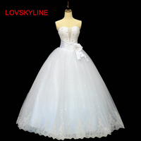 Sexy Sweetheart Top Royal Pure White Ivory Lace up Beading Ball Gown Wedding Dress 2018 luxury Wedding Gown Vestido De Noiva