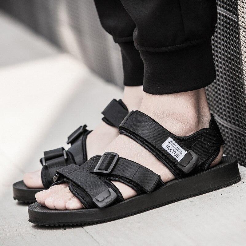 Men Sandals 2018 Summer shoes men beach sandals fashion casual hook&loop unisex men sport sandals size 37-43