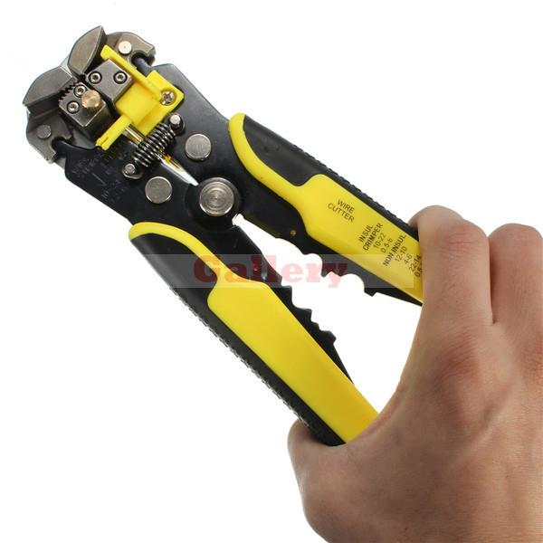 Multifunctional Automatic Wire Stripper Crimping Pliers Terminal Tool Yellow Cable Automatic Cable Wire Stripper Wire Stripper  цены