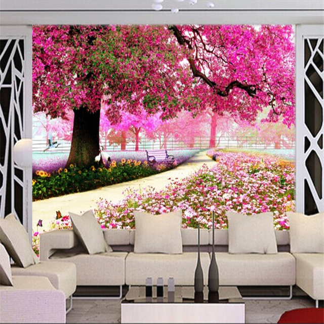 beibehang garden space to expand 3d Vision wallpaper mural TV ...