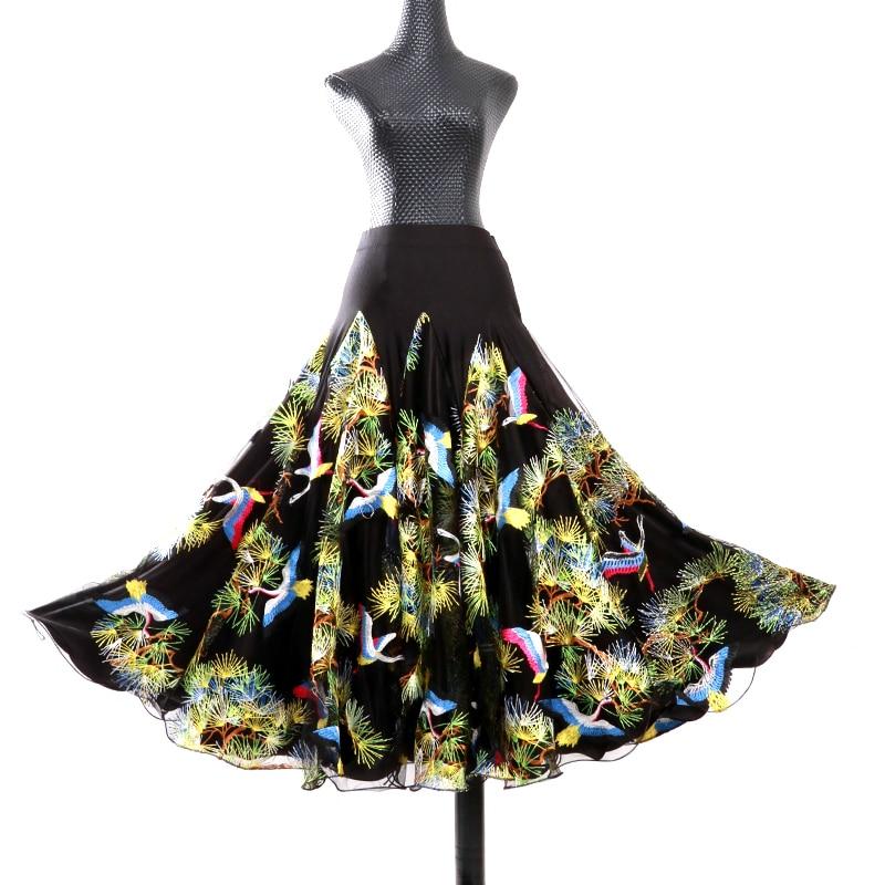 Costume de danse Flamenco jupe longue salle de bal danse moderne Standard valse danseuse robe espagne LXQ913