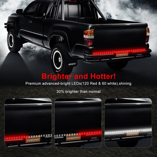 60 2 row led truck tailgate light bar strip waterproof redwhite 60 2 row led truck tailgate light bar strip waterproof redwhite reverse aloadofball