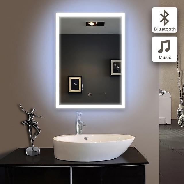 Bad spiegel 50x60cmin bad Bluetooth BELEUCHTETE LED piegel badkamer ...