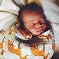 120*120 cm forma Animal bebé albornoz con capucha Toalla Swaddle Muselina Manta Pañales Del Bebé Recién Nacido 100% Algodón