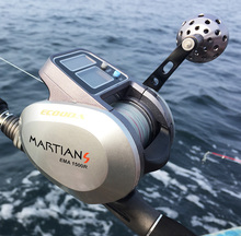Free Shipping! Ecooda OFB500 dual power digital fishing reel raft reel ice reel baitcasting reel right handle and left handle