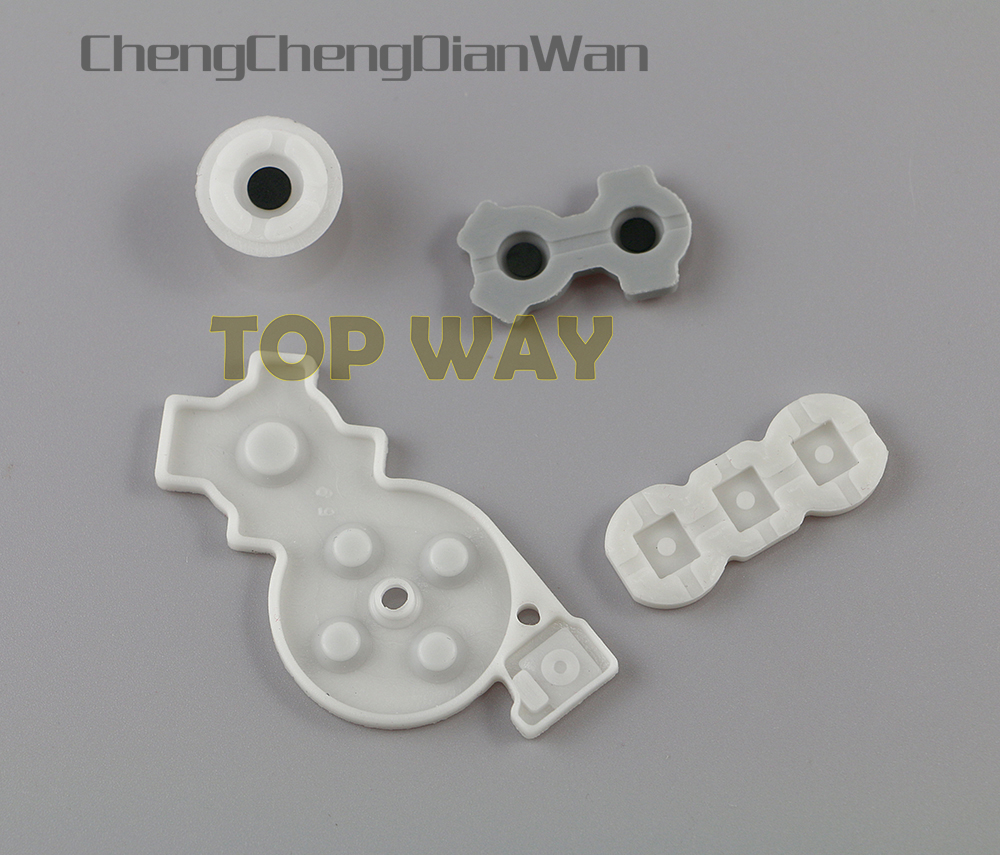 ChengChengDianWan For Wii Video Game Console Replacement Soft Silicone Conductive Rubber 50setslot