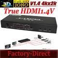 HDMI switch splitter 1.4V  HDMI matrix 4x2 supports 3D Video 4Kx2K resolutions