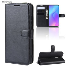 For Xiaomi Redmi K20 Pro Case Cover PU Leather Wallet Flip Phone Coque Black