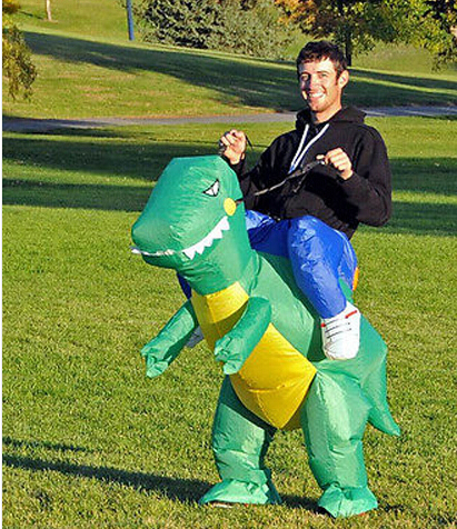 Inflatable Dinosaur Costume Dinosaur Jumpsuit Dinosaur Clothing Halloween Costumes Funny Costumes Animal Cosplay