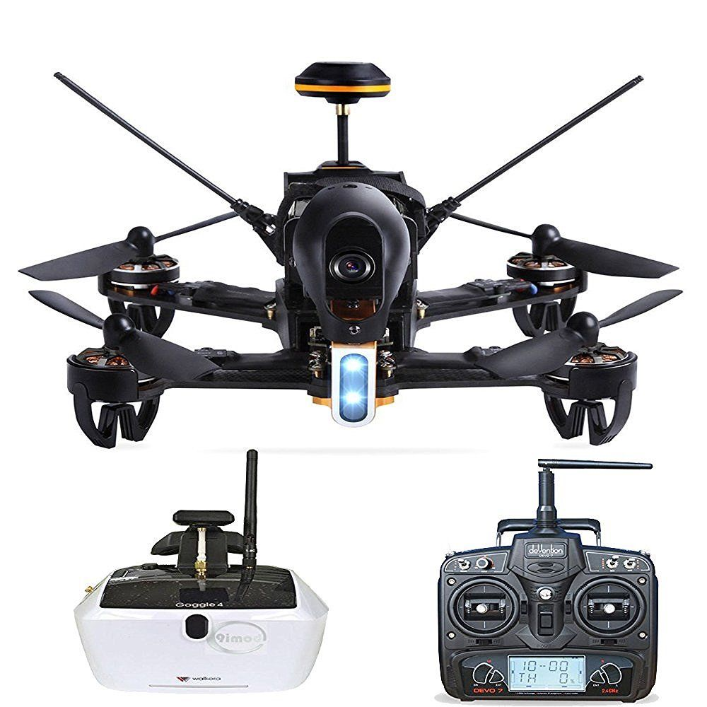 Walkera F210 Deluxe Light Racer Quadcopter RTF Drone with 5.8G Goggle4 FPV Glasses Devo 7 Devo7 Transmitter RC Racing Helicopter