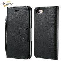 KISSCASE For iPhone 5 6 6S 7 Plus Flip Case Luxury PU Leather Wallet Case Flip