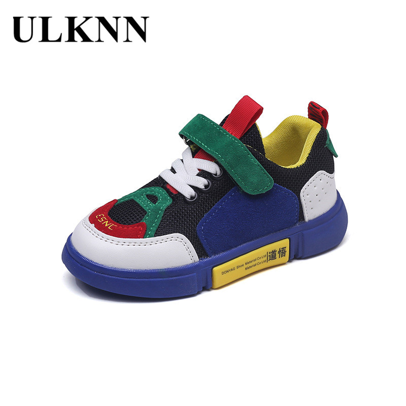 ULKNN Boys Shoes Kids Girls Sneakers Breathable Sport Children Casual Shoes Running Mixed-Color Sneakers Summer 2018 New Fashion