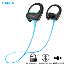 Ralyin M8 bluetooth 5.0 headphones IPX7 Waterproof sport wireless 8 hours playtime auriculares inalambrico