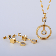 2017 New Arrival African Costume Jewelry Sets Gold Plating Fashion Wedding Women Bridal Accessories l Earring Necklace Set